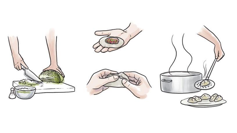 La cocina china celebra el Año Nuevo con jiaozi